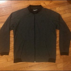 Under Armour Zip-Up Sweater   Gray and Black